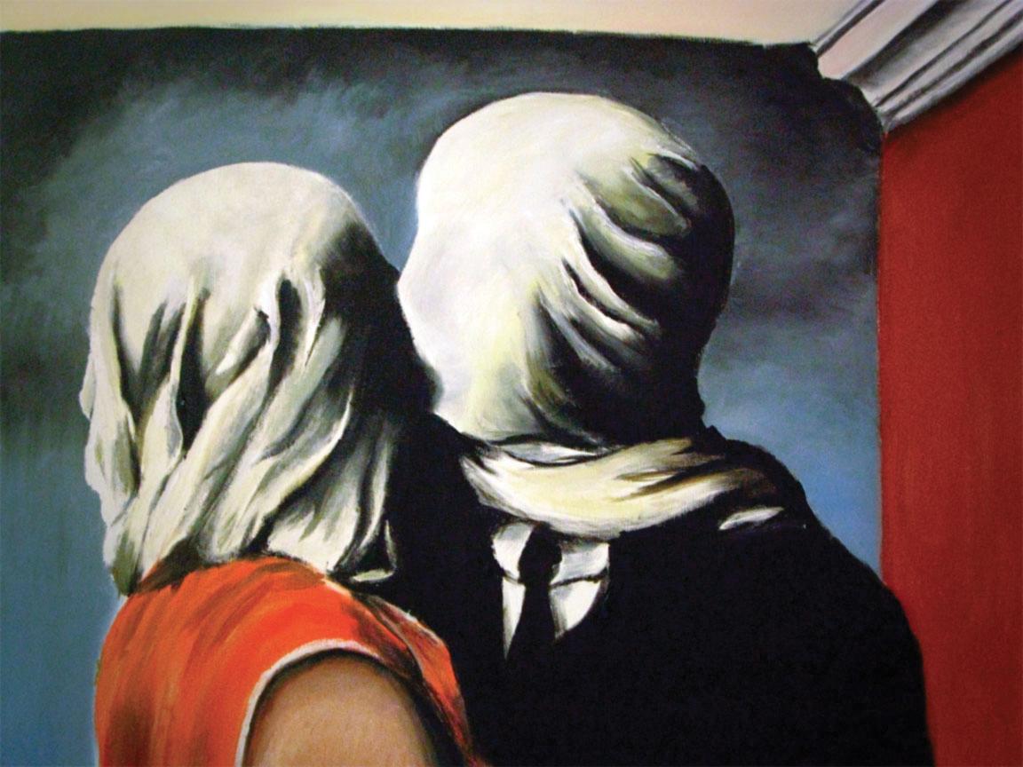 Gli amanti, René Magritte. Che cos'è mai un bacio?