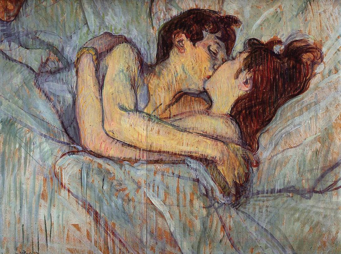 A letto. Il bacio, Toulouse Lautrec. Che cos'è mai un bacio