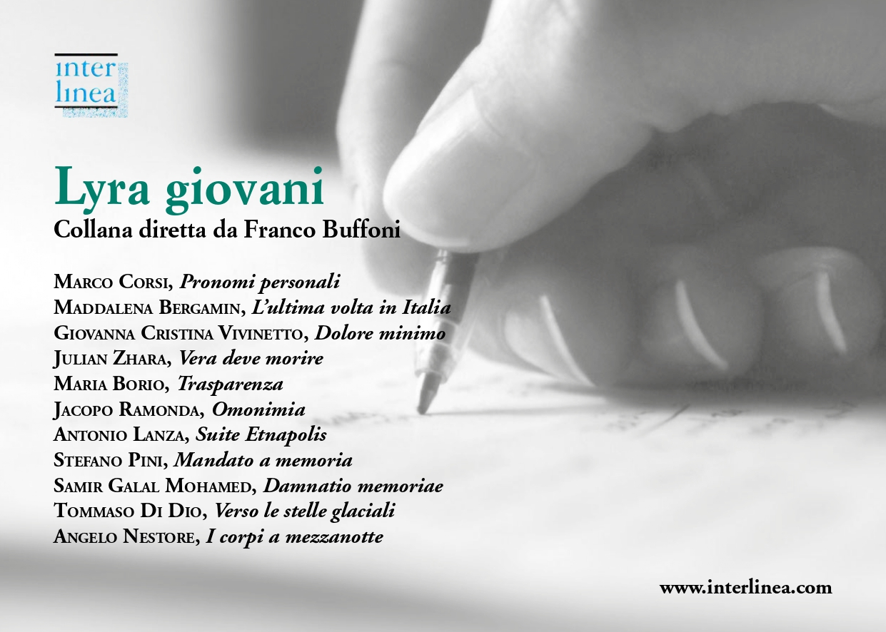Giovani poeti contemporanei selezionati da Franco Buffoni